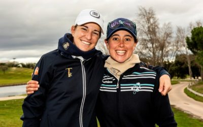 Luna Sobrón derrota a los elementos en una gélida jornada en Golf Santander