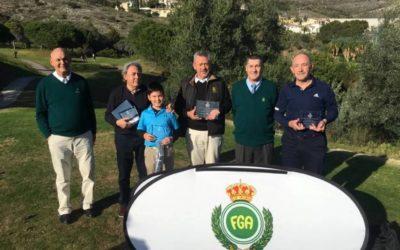 Juan Soler, ganador de la primera prueba del Circuito Andaluz de Pitch and Putt 2020, en Benalmádena Golf