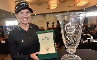 Madelene Sagstrom inaugura el año de trofeos en el LPGA Tour