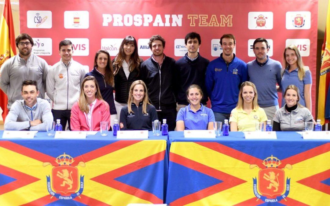 Veintitrés golfistas, récord de apoyo al golf profesional español a través del Programa Pro Spain Team