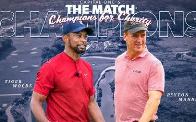 Tiger Woods y Peyton Manning, triunfadores solidarios en The Match