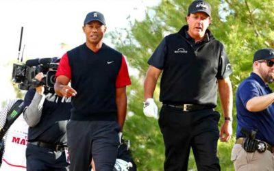 Woods y Mickelson: un cara a cara solidario