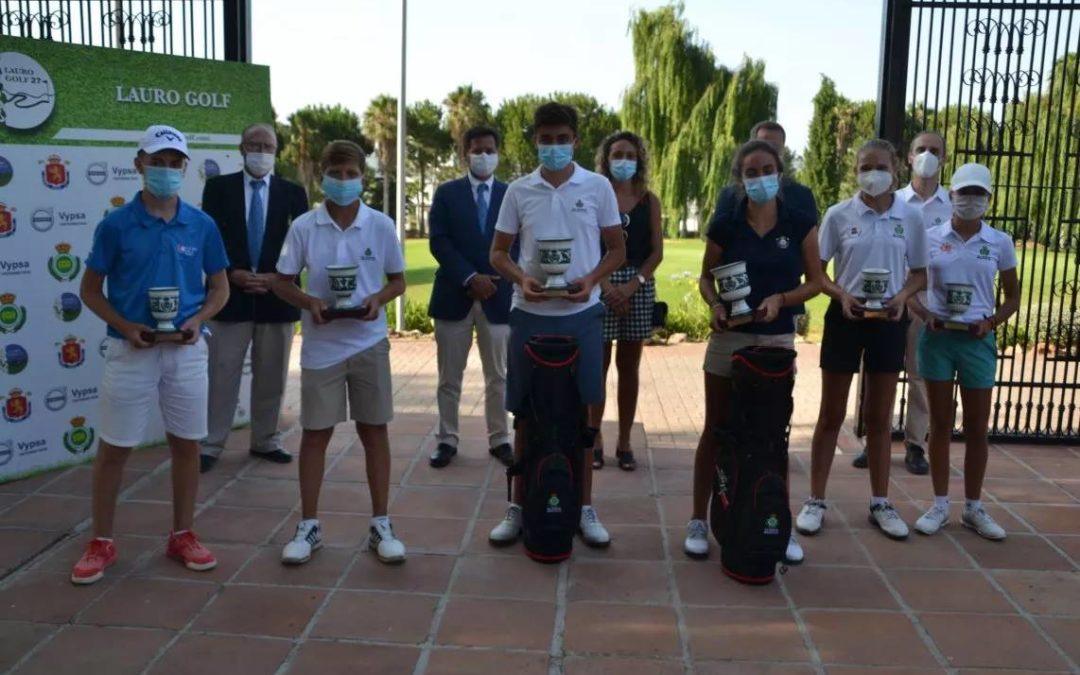 Lauro Golf corona a los nuevos Campeones de Andalucía Infantil, Alevín y Benjamín