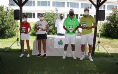 Calvin Greschner-Ignacio Gómez y Lucía Morales-Irene Sánchez, Campeones de Andalucía de Dobles en el Parador de Málaga Golf