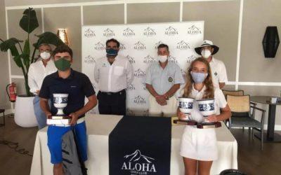 Laurentino Gil y Alejandra Cervera, Campeones de Andalucía de Pitch and Putt en Aloha