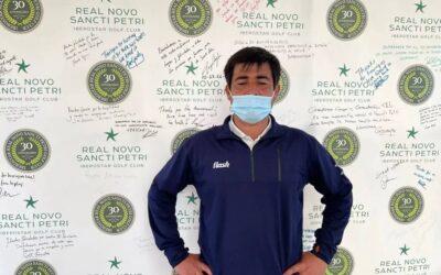 Diego Luis López, ganador del Circuito de Profesionales en el Real Novo Sancti Petri