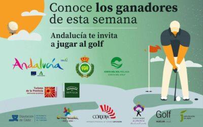 Ya tenemos a los primeros doce ganadores de unas vacaciones de golf en Andalucía