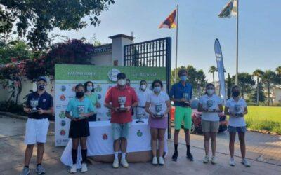 Chanya Huaysan, Pablo García, Carlota Sierra, Luis del Rosal y Daniel Blanco, Campeones de Andalucía de 2ª, 3ª y 4ª categoría en Lauro Golf