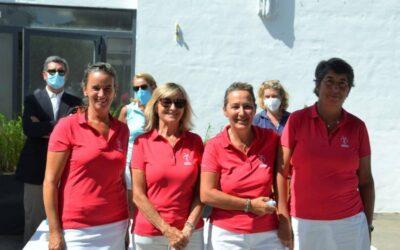 Inmaculada Gil-Delgado, Mª Pilar Bravo, Rosario Fernández y Concepción Sanchez, ganadoras de la Final del Circuito Femenino de Andalucía en El Rompido
