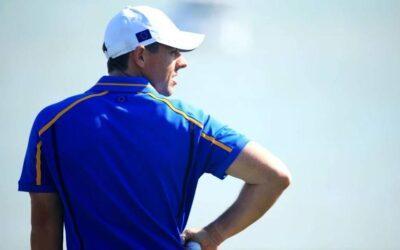 Rory McIlroy, golpeado el viernes en la Ryder Cup