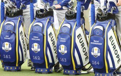 Las bolsas de los europeos se numeran para valorar la importancia de jugar la Ryder Cup