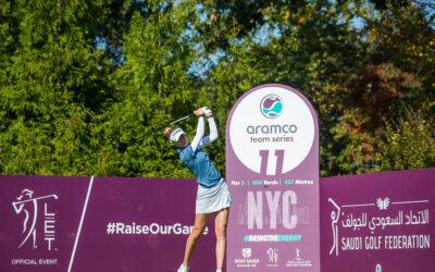 Nelly Korda lidera la clasificación individual en Nueva York y Bronte Law la de equipos